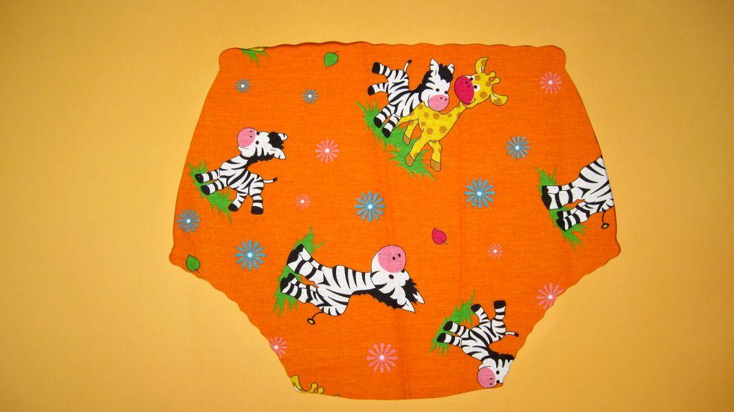 Zebry a žirafy - oranžová