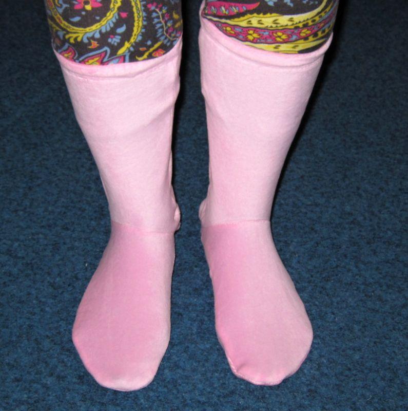 Plyšové ponožky