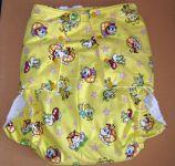 Zapínací plenkové kalhotky s širokými mantinely