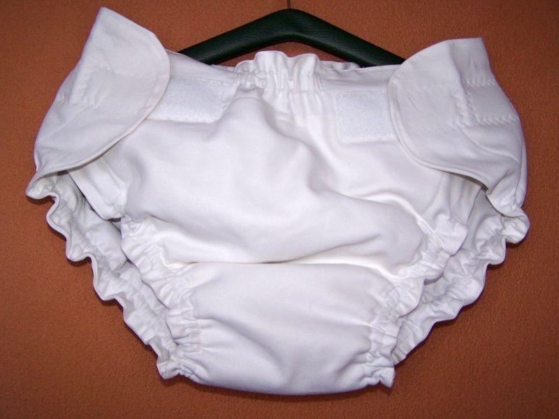 Zavinovací kalhotková plenka bílá