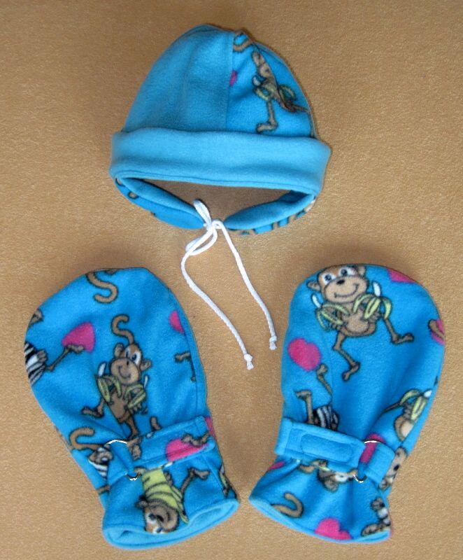Zimní souprava čepice a návleky na ruce
