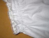 Něžné kalhotky z bílé Madeiry